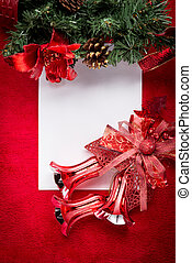 Letter to Santa Claus. Christmas red decorations
