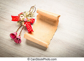 Letter to Santa Claus. Christmas wood decorations
