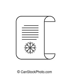 Letter to Santa icon, wish list. Vector illustration.