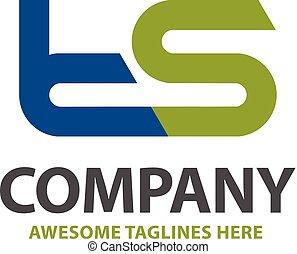 letter ts logo design vector