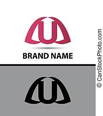 Letter u logo icon design