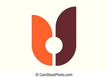 letter u logo icon vector concept