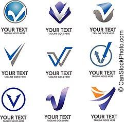 Elegant Letter V logo concept, perfect for all kind of business