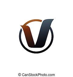 letter v logo. gold logo design concept template