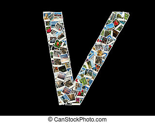 """Letter """"V""""collage of travel photos"""