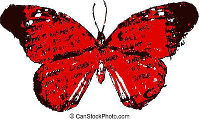 Letter Vintage Butterfly