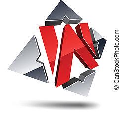 letter., w, 3d