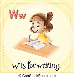 Letter W - Alphabet W is for writing