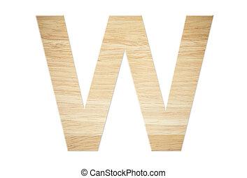 Letter W from wood board
