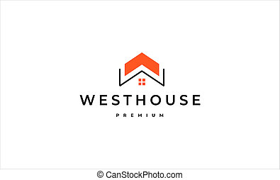 Letter W Home Logo Design vector