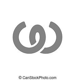 Letter W Logo Concept Icon. Vector illustration