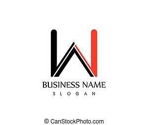 Letter w logo template vector