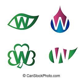 Letter W Logo vector alphabet
