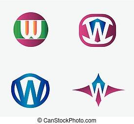 Letter W Logo vector alphabet desig