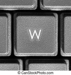 Letter W on computer keyboard