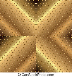 Letter X Background Metal Copper