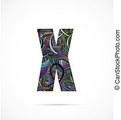 """Letter """"X"""" from doodle alphabet"""