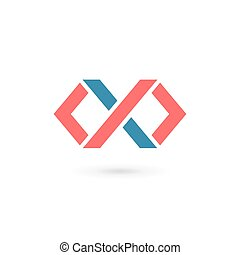 Letter X infinity loop logo icon design template elements