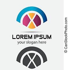 Letter X Logo Design.Creative