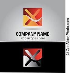 Letter X logo symbol design templat