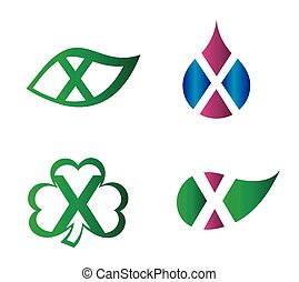 Letter X Logo vector alphabet