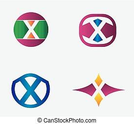 Letter X Logo vector alphabet desig