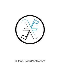 letter X logo vector template