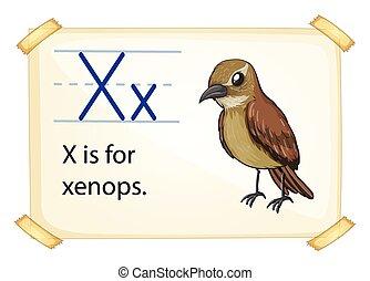 Poster of an alphabet X