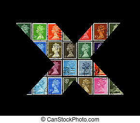 Letter X. - UNITED KINGDOM - CIRCA 1970-1985: Letter X From ...