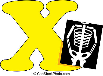 Letter X with an X Ray