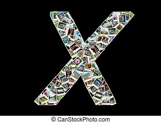 """Letter """"X""""collage of travel photos"""
