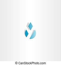 letter y water drop icon vector
