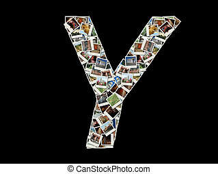 "Letter ""Y""collage of travel photos"