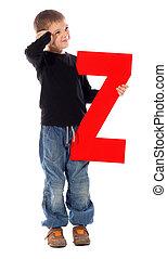 """Letter \""""Z\"""" boy"""