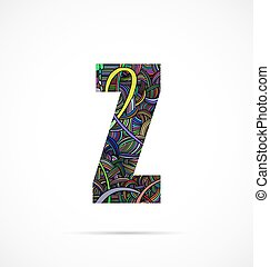 "Letter ""Z"" from doodle alphabet"