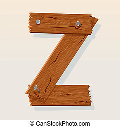 Letter Z From vector Wooden Alphabet