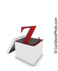 letter z in box