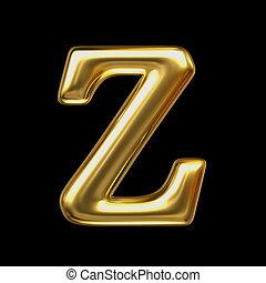 LETTER Z in golden metal