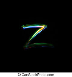 Letter Z Light Painted - A unique font created by free hand...