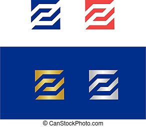 Abstract letter Z logo concept