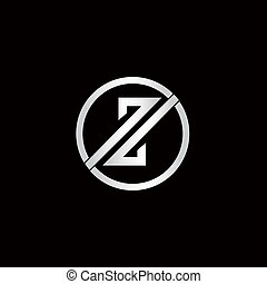 Rounded logo with abstract letter Z in it