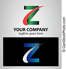 Letter Z logo symbol design templat