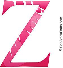 Letter Z Love Alphabet Set
