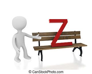 letter Z on desk