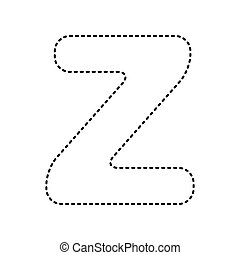 Abstract Letter Z Logo Design Template Black And White Creative