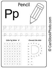 letter ZDDD . Alphabet letter. Worksheet. Task for kids. learning letters