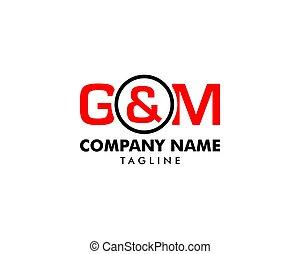 lettera g, &, iniziale, m, vettore, sagoma, logotipo
