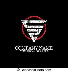 lettera, sagoma, logotipo, disegno, iniziale, ispirazione, sport, idoneità, cz