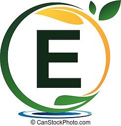 lettera, soluzione, progetto, e, verde