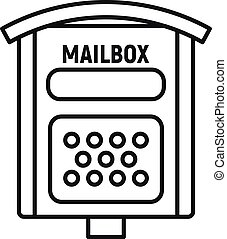 Letterbox icon, outline style - Letterbox icon. Outline ...